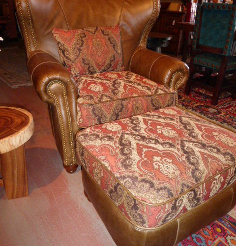 Duquette Raspberry Wing Chair
