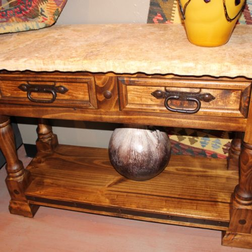 Colonial Travertine Sofa Table