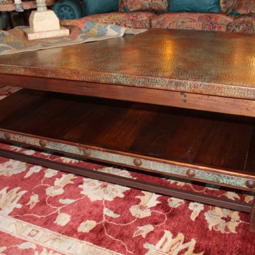 Patina Copper Coffee Table