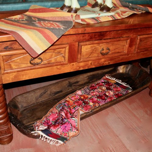 mesquite wood console table