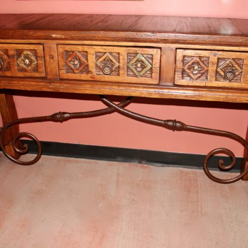 Carved wood Sofa Table