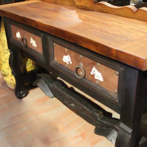 old yoke sofa table