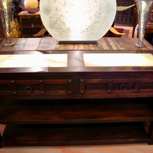 Charbel Onyx Console Table with Light