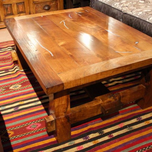 Mesquite Turquoise Inlay Coffee Table