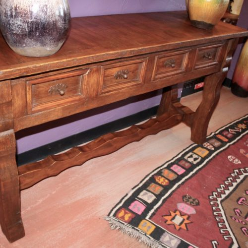 rustic four drawers sofa table