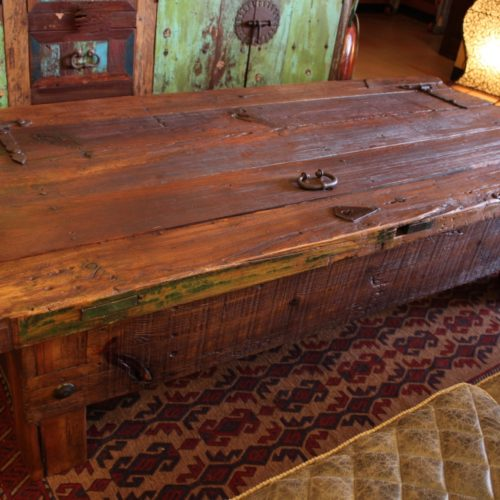 Old Door Chest Coffee Table