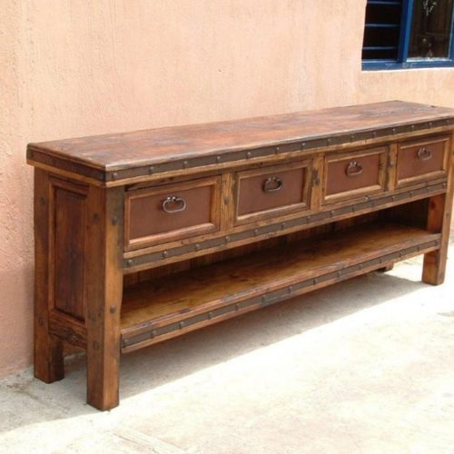 Pepe Wood Top TV Console