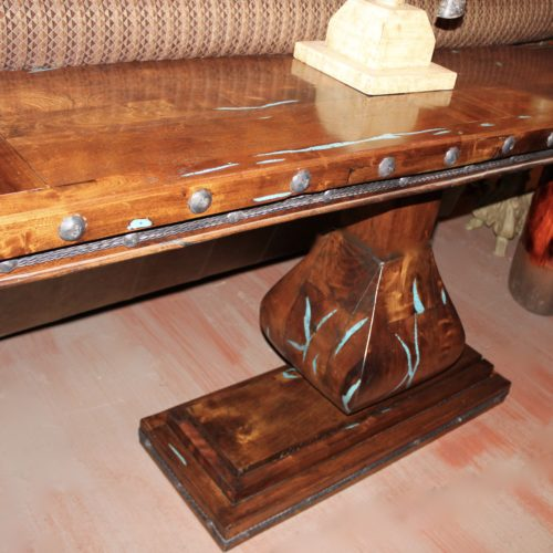 Mesquite Turquoise Inlay Sofa Table