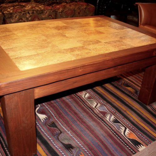 Travertine Wormwood Coffee Table