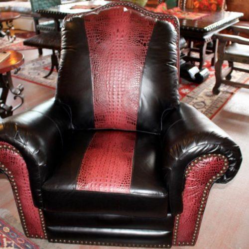Waller Black Bison Recliner, Glider & Swivel Armchair