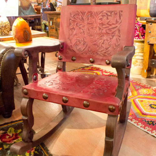 Argentina Rocking Chair in Red Inglés