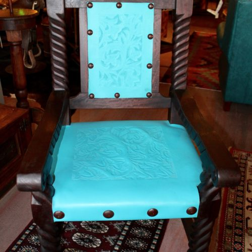 Rey Salomon Armchair in Turquoise