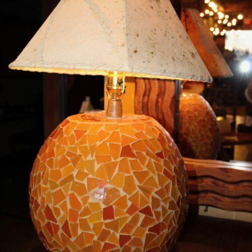 Mosaïc Ball Lamp in Mandarine