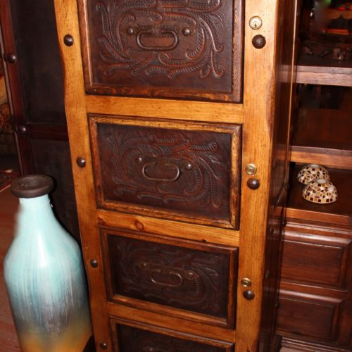 Hacienda Tooled Leather File Cabine