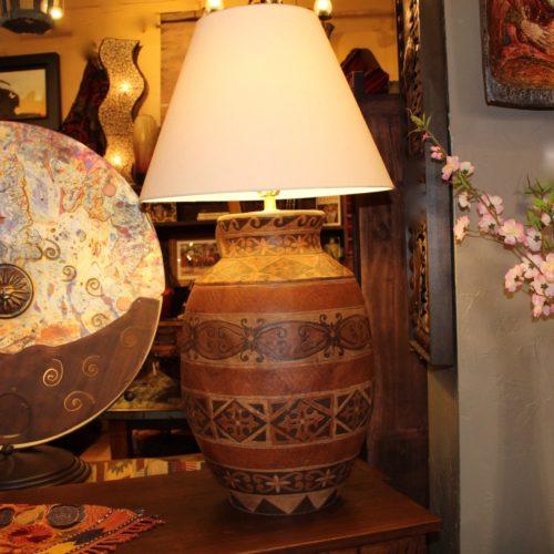 XL Tahoe Hand-Painted Ceramic Table Lamp