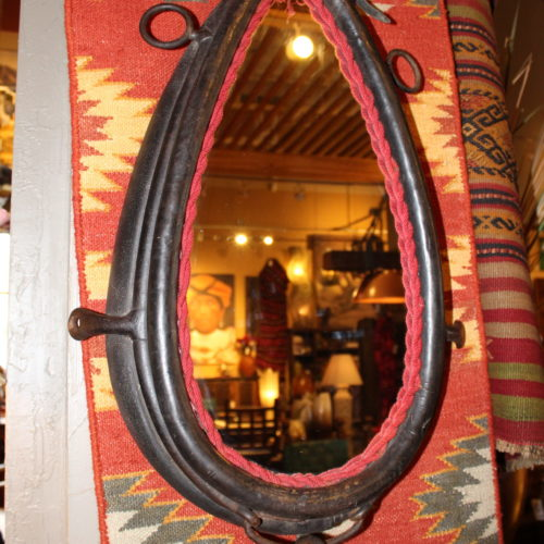 Antique Horse Collar Mirror