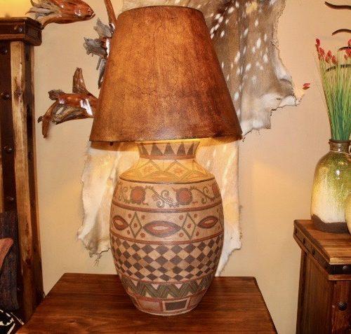 XL Pueblo Hand-Painted Ceramic Table Lamp
