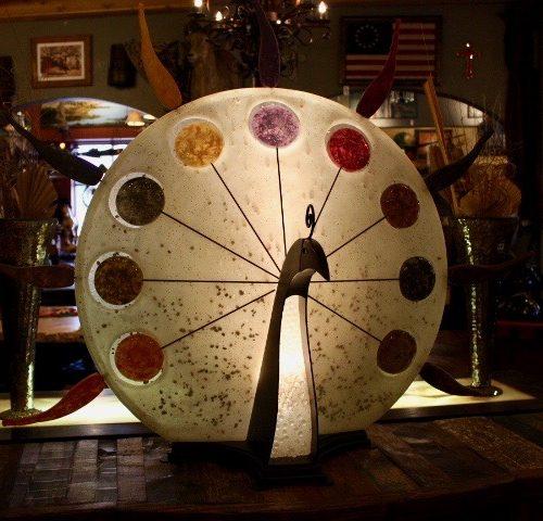 """Pavo Rey"" Art Lamp by Artist Carlos De Anda"