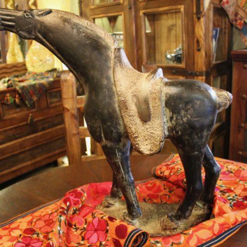 horse table art ceramic