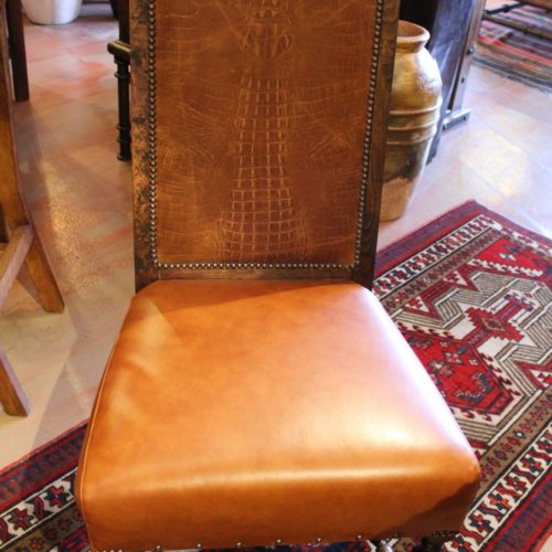 Croc Embossed Chair