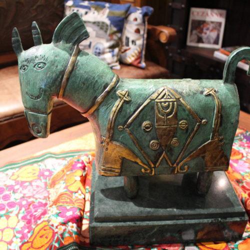 bronze horse table art