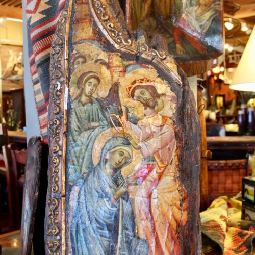Byzantine virgin mary Panel Painting from Mykonos