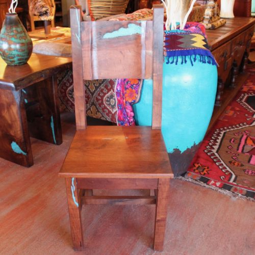 Mesquite Chair with Turquoise Inlay