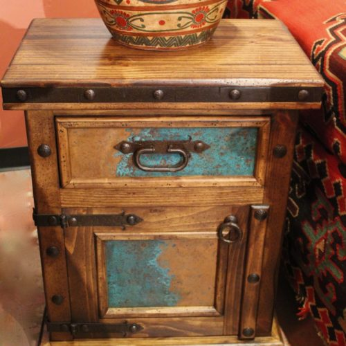 Hacienda Acid Washed Copper Nightstand (door)