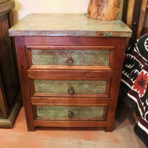 Green Patina Copper Nightstand