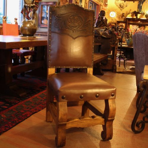 western style Leather Chair