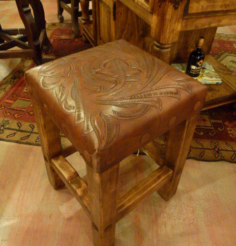 Tooled Leather stool