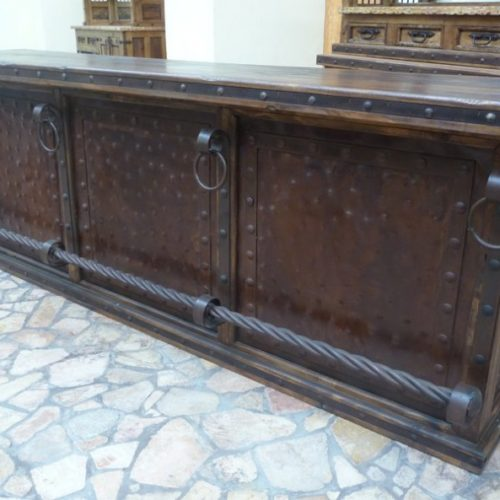 Hacienda Bar with Wood Top