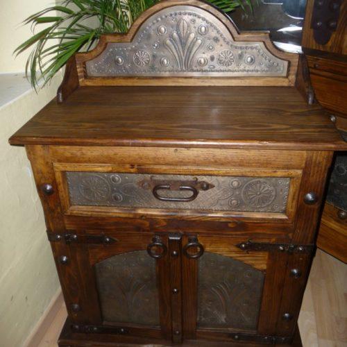 tin nightstand