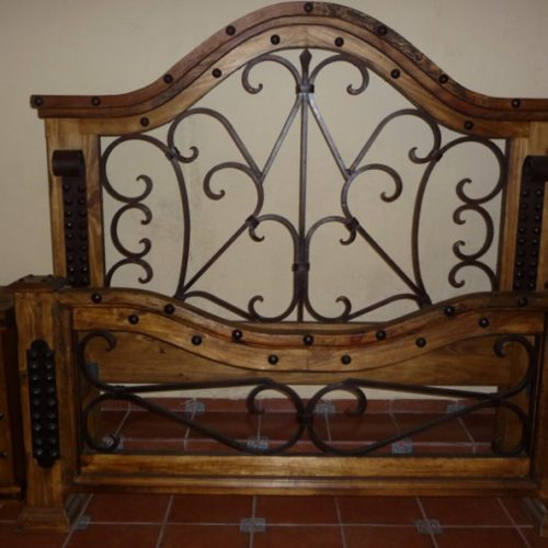 forged iron bed