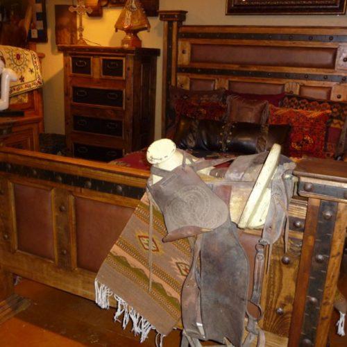 hacienda style leather bed
