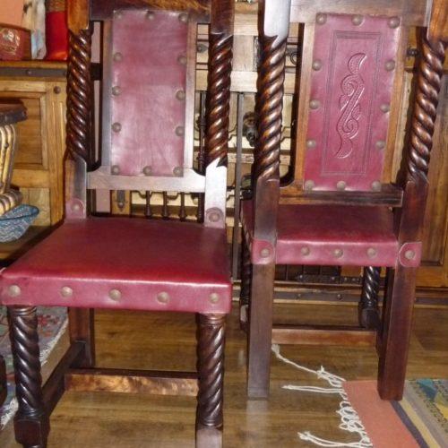 Rey Salomon Chair in Red Guinda