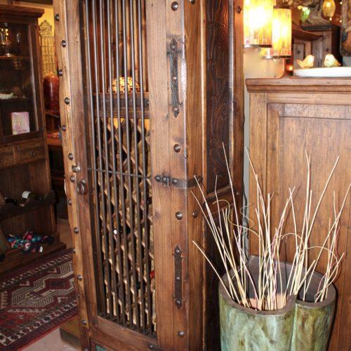 Hacienda Tooled Leather Wine Rack