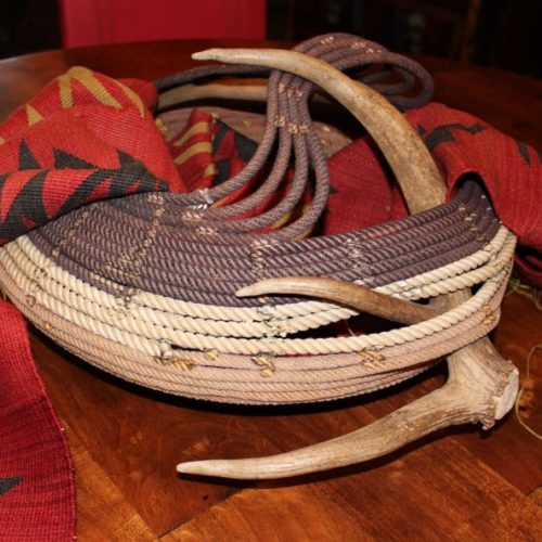 Cowboys' Rope Basket with Antlers