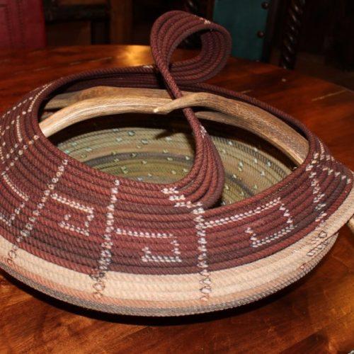 Cowboys' Rope Basket with Antlers