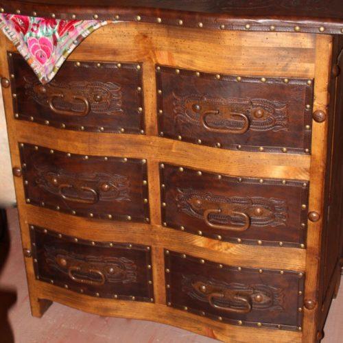 Hacienda Curved Tooled Leather Dresser