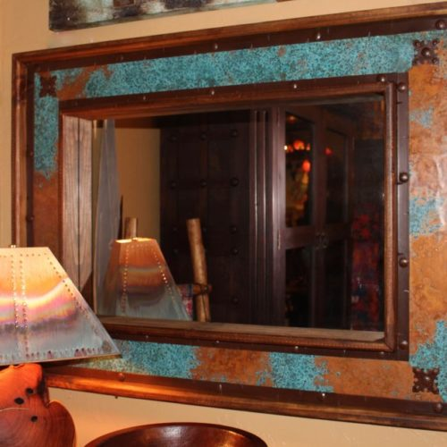 Hacienda Acid Washed Copper Mirror