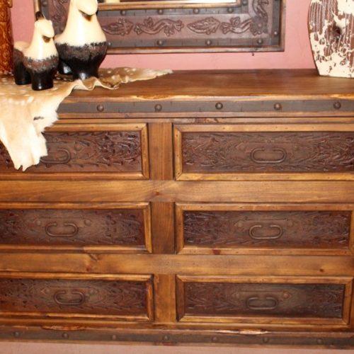 Hacienda Tooled Leather Dresser
