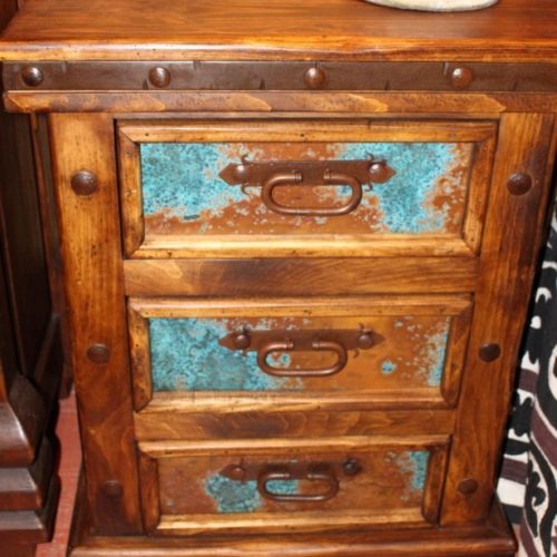 Hacienda Acid Washed Copper Nightstand (drawers)