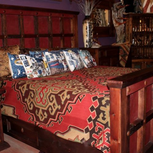 Charbel Leather Bed