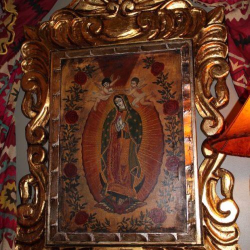 Virgen of Guadalupe in Golden Frame