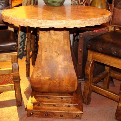 Travertine Mesquite Bistro Table