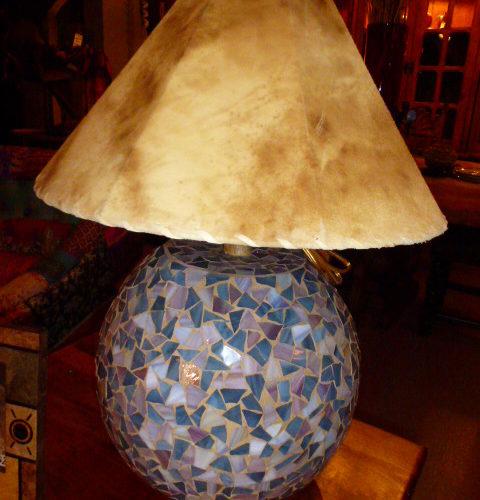 Mosaïc Ball Lamp in Sky Reflection