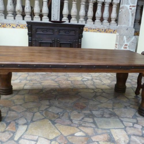 pine rustic table