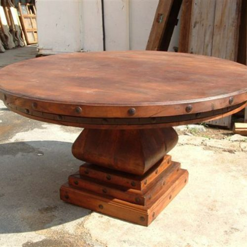Mesquite Round Table with Mesquite Base