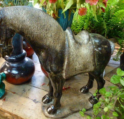 ceramic table art horse